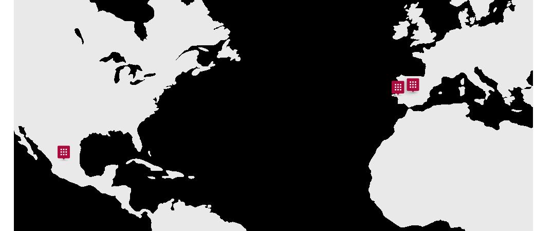 Mapa ubicación clientes Grupo SIM